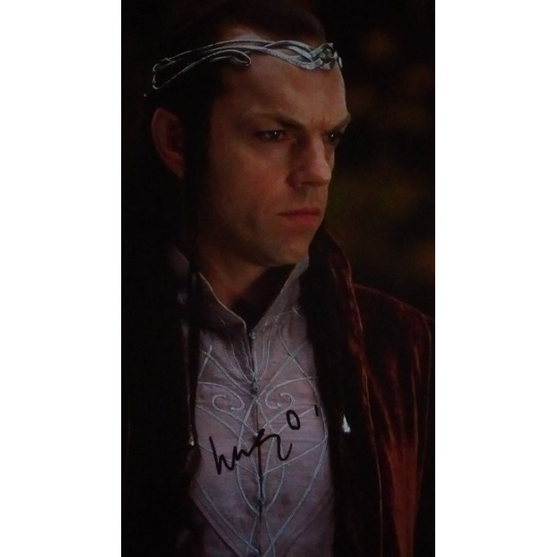 hugo weaving autograph the lord of the rings the hobbit