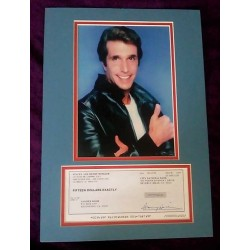 Henry Winkler Signed Cheque (Happy Days)