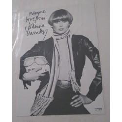 Joanna Lumley dedicated autograph (Absolutely Fabulous)