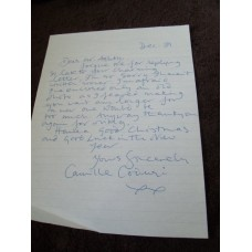 Camille Coduri Signed Letter (Doctor Who)