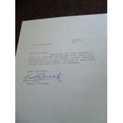Harold Innocent Signed Letter (Doctor Who; Randall and Hopkirk, Deceased)