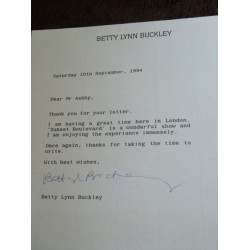 Betty Lynn Buckley Signed Letter (Eight Is Enough, Oz)