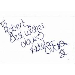 Adele Silva autograph (dedicated)