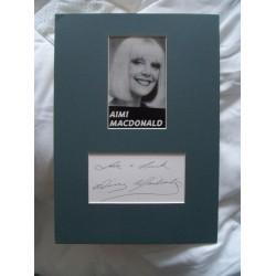 Aimi MacDonald autograph