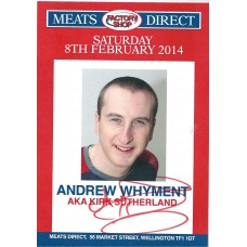Andrew Whyment autograph (Coronation Street)