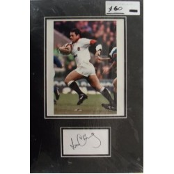 Will Carling autograph