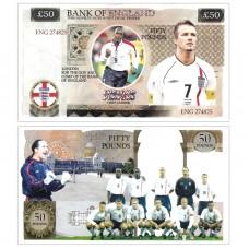 Novelty Banknote - England Football Team £50
