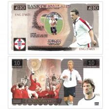 Novelty Banknote - England Football Team £10