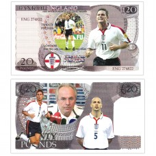 Novelty Banknote - England Football Team £20