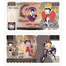 Novelty Banknote - Betty Boop £10