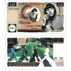Novelty Banknote - Beatles Ringo Starr £10