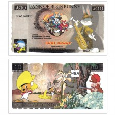 Novelty Banknote - Bugs Bunny £10