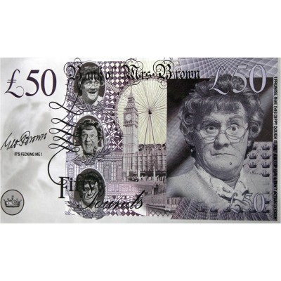 Novelty Banknote - Mrs Brown