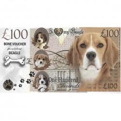 Novelty Dog Banknote - Beagle