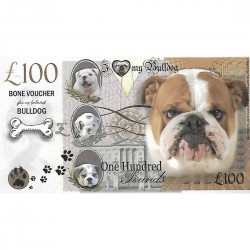 Novelty Dog Banknote - Bulldog