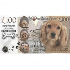 Novelty Dog Banknote - Cocker Spaniel