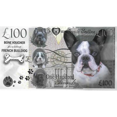 Novelty Dog Banknote - French Bulldog 2