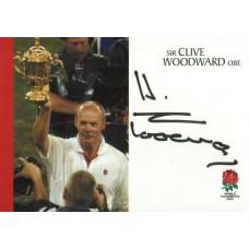 Clive Woodward autograph