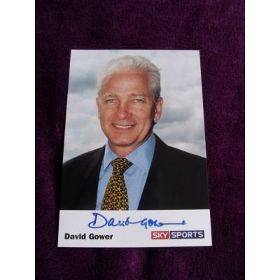 David Gower autograph 1