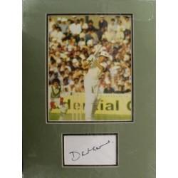 David Gower autograph 2