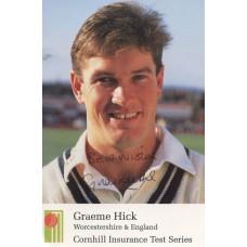 Graeme Hick autograph