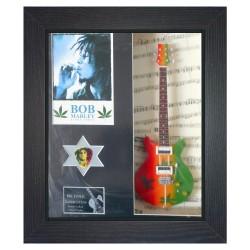 Bob Marley Replica Framed Guitar & Plectrum Presentation