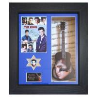 Elvis Presley Replica Framed Guitar & Plectrum Presentation