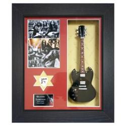 Black Sabbath Replica Framed Guitar & Plectrum Presentation