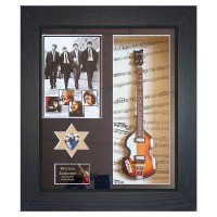 The Beatles Replica Framed Guitar & Plectrum Presentation - 2