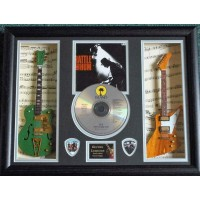 U2 Replica Double Framed Guitar, CD & Plectrum Presentation