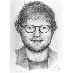 Jonathan Wood pencil drawing - Ed Sheeran