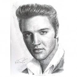 Jonathan Wood pencil drawing - Elvis