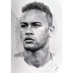 Jonathan Wood pencil drawing - Neymar