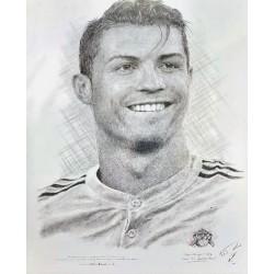 Jonathan Wood pencil drawing - Ronaldo