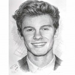 Jonathan Wood pencil drawing - Shawn Mendes