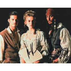 Johnny Depp and Keira Knightley autograph (Pirates of the Caribbean)