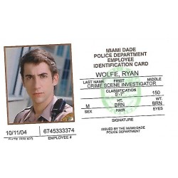 Jonathan Togo Character ID Card (CSI: Miami)