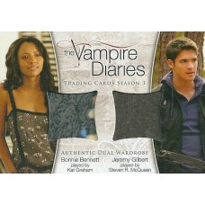 Kat Graham and Steven R. McQueen Costume Card (The Vampire Diaries)