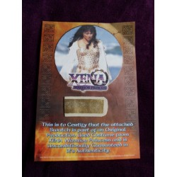 Lucy Lawless Costume Card (Xena: Warrior Princess)