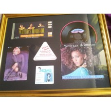 Whitney Houston Framed Collection w/ LP