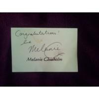Melanie C autograph 6 (Spice Girls)