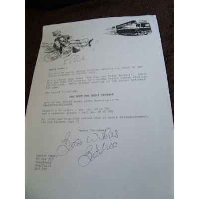 Bernie Clifton Signed Letter