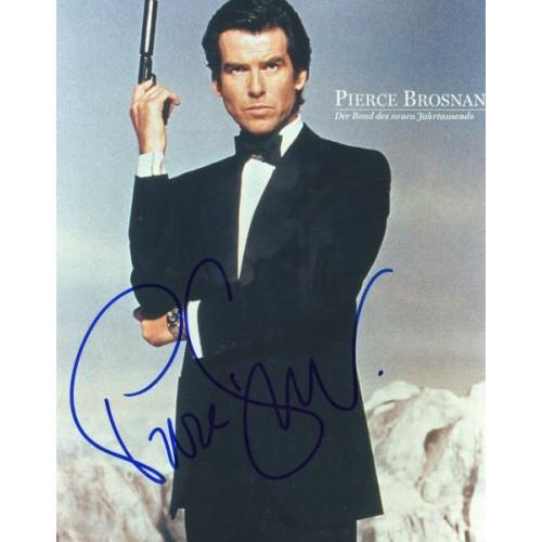 Autogramm Pierce Brosnan GoldenEye Der Ghostwriter Autograph James Bond