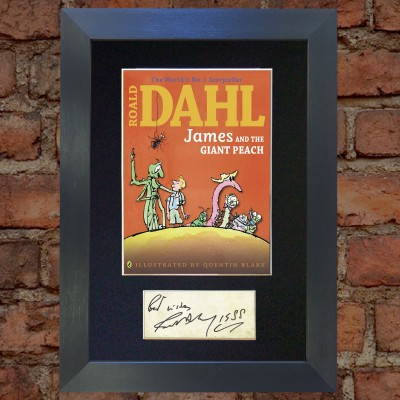 Roald Dahl Pre-Printed Autograph (James and the Giant Peach)
