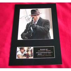 Johnny Depp Pre-Printed Autograph (Public Enemies)