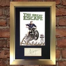 Steve McQueen Pre-Printed Autograph 1 (The Great Escape)