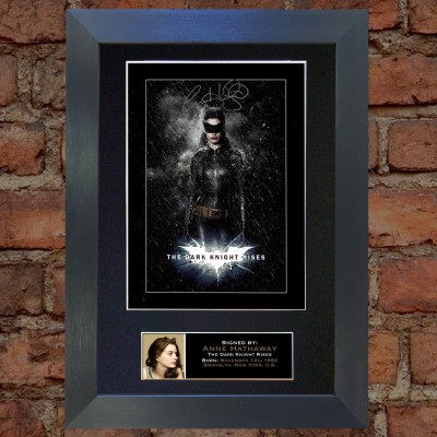 Anne Hathaway Pre-Printed Autograph (The Dark Knight Rises)