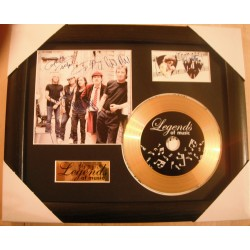 AC/DC Gold Vinyl and Plectrum Display (Preprint)