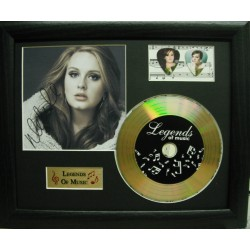 Adele Gold Vinyl and Plectrum Display (Preprint)