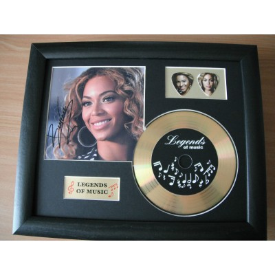 Beyonce Gold Vinyl and Plectrum Display (Preprint)